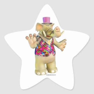 Elliot the Elephant Star-Shaped Stickers