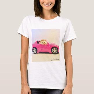 elliot the hedgehog pink car shirt