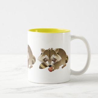 Elliot the Raccoon Two-Tone Coffee Mug