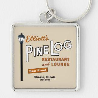 Elliott's Pine Log Restaurant, Skokie, IL. 1939-88 Key Ring