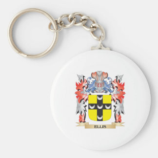 Ellis Coat of Arms - Family Crest Basic Round Button Key Ring