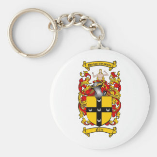 ELLIS FAMILY CREST -  ELLIS COAT OF ARMS KEY RING