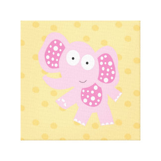 elly_the elephant stretched canvas prints