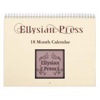 Ellysian Press 18 Month Calendar