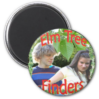 Elm Tree Finders 6 Cm Round Magnet