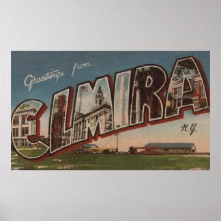 Elmira, New York - Large Letter Scenes 2 Poster