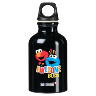 Elmo and Cookie Awesome Buds Water Bottle