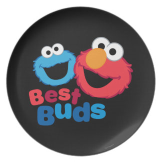 Elmo and Cookie Besties Plate