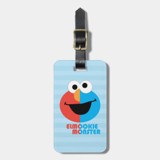 Elmo and Cookie Half Face Bag Tag
