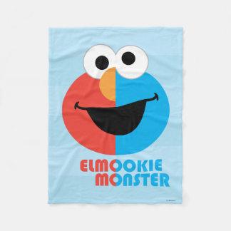 Elmo and Cookie Half Face Fleece Blanket