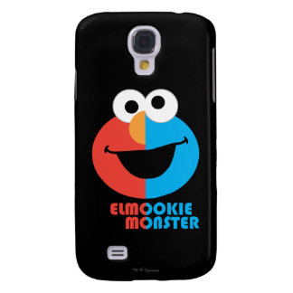 Elmo and Cookie Half Face Galaxy S4 Case