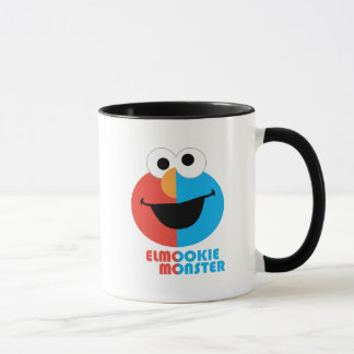 Elmo and Cookie Half Face Mug