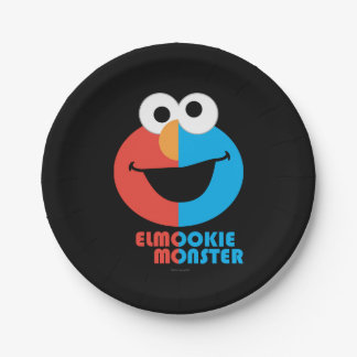 Elmo and Cookie Half Face Paper Plate