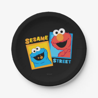 Elmo and Cookie Monster Friends Paper Plate