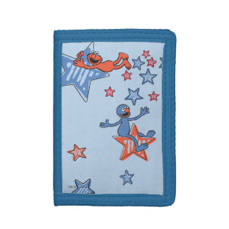 Elmo and Grover Among The Stars Trifold Wallets