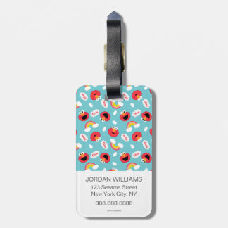 Elmo and Rainbows Pattern Luggage Tag