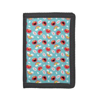 Elmo and Rainbows Pattern Tri-fold Wallet