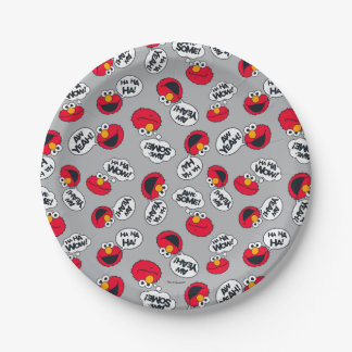 Elmo | Aw Yeah, Awesome Pattern Paper Plate