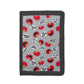 Elmo | Aw Yeah, Awesome Pattern Tri-fold Wallet