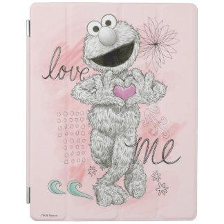 Elmo B&W Sketch Drawing iPad Cover