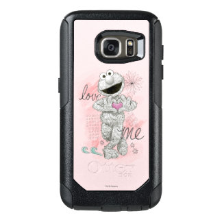 Elmo B&W Sketch Drawing OtterBox Samsung Galaxy S7 Case