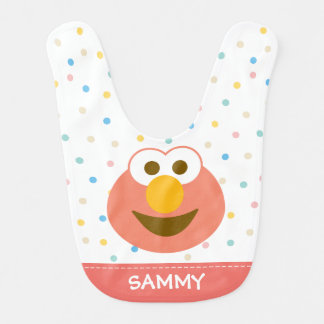 Elmo Baby Big Face | Add Your Name Baby Bib