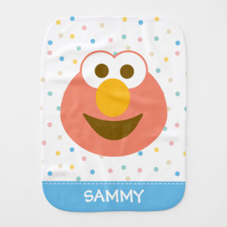 Elmo Baby Big Face | Add Your Name Baby Burp Cloths
