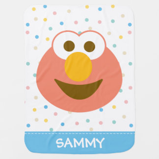 Elmo Baby Big Face   Add Your Name Receiving Blankets