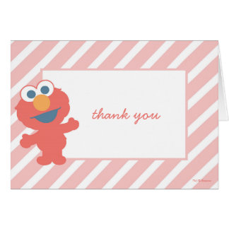 Elmo Baby Shower Thank You Card