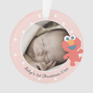 Elmo | Baby's First Christmas - Add Your Name Ornament