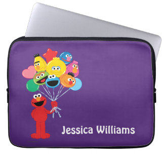 Elmo Balloons | Add Your Name Laptop Sleeve