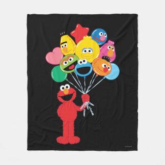 Elmo Balloons Fleece Blanket