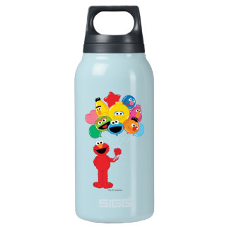 Elmo Balloons Insulated Water Bottle