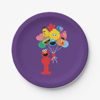 Elmo Balloons Paper Plate