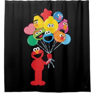 Elmo Balloons Shower Curtain
