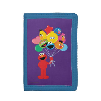 Elmo Balloons Tri-fold Wallet