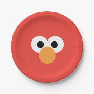 Elmo Big Face 7 Inch Paper Plate