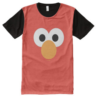 Elmo Big Face All-Over Print T-Shirt