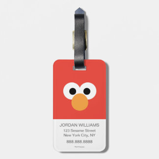 Elmo Big Face Luggage Tag