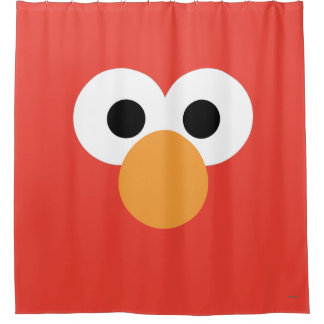 Elmo Big Face Shower Curtain