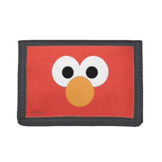 Elmo Big Face Tri-fold Wallets