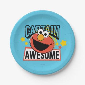 Elmo Captain Comic Paper Plate