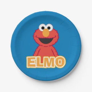 Elmo Classic Style 7 Inch Paper Plate