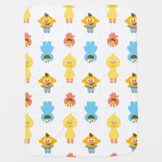 Elmo, Cookie Monster, Bert & Cookie Monster Baby Blanket