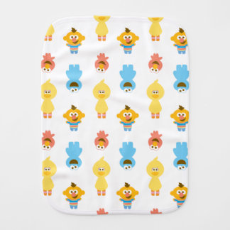 Elmo, Cookie Monster, Bert & Cookie Monster Burp Cloth