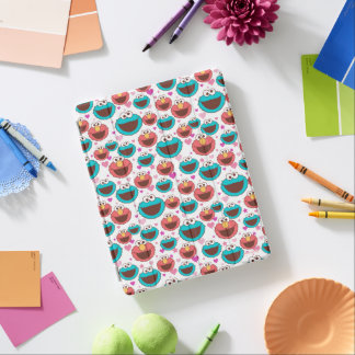 Elmo & Cookie Monster | Peace & Love Pattern iPad Cover
