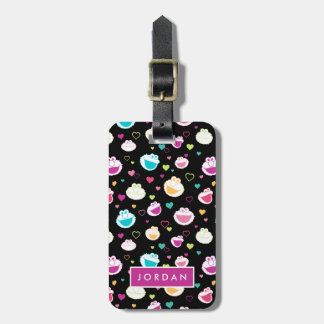Elmo & Cookie Monster | Sweet Stuff Heart Pattern Luggage Tag
