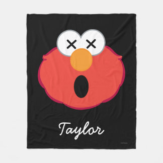 Elmo Dizzy Face | Add Your Name Fleece Blanket