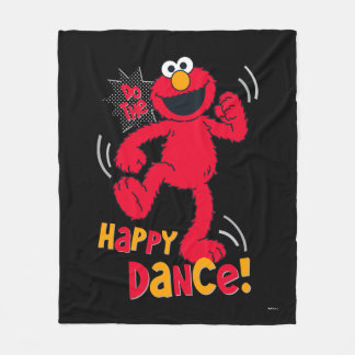 Elmo | Do the Happy Dance Fleece Blanket