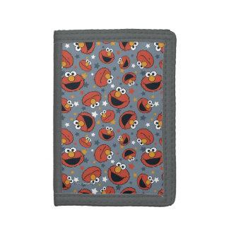 Elmo | Elmo Rules Star Pattern Trifold Wallet
